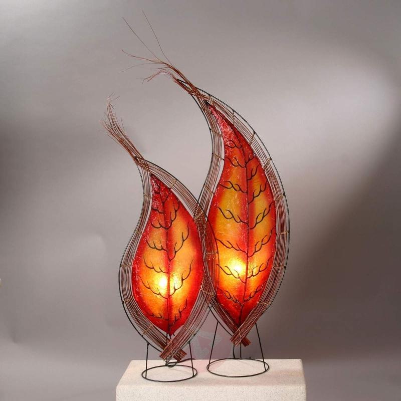 Leaf-shaped KUSUMA table lamp 71 cm