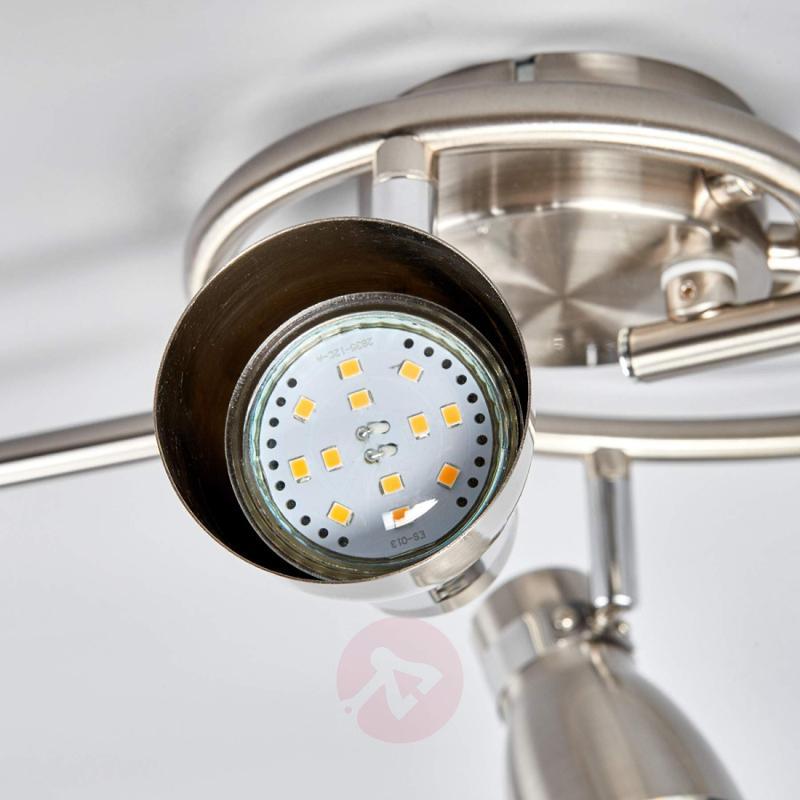 Five-bulb Hilda ceiling light, matt nickel - indoor-lighting