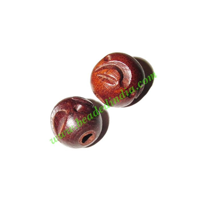 Rosewood Beads, Handcrafted designs, size 14mm, weight appro - Rosewood Beads, Handcrafted designs, size 14mm, weight approx 1.85 grams