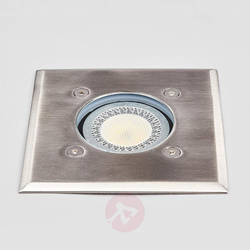 Angular stainless steel recessed floor light Insa - Recessed Floor Lights