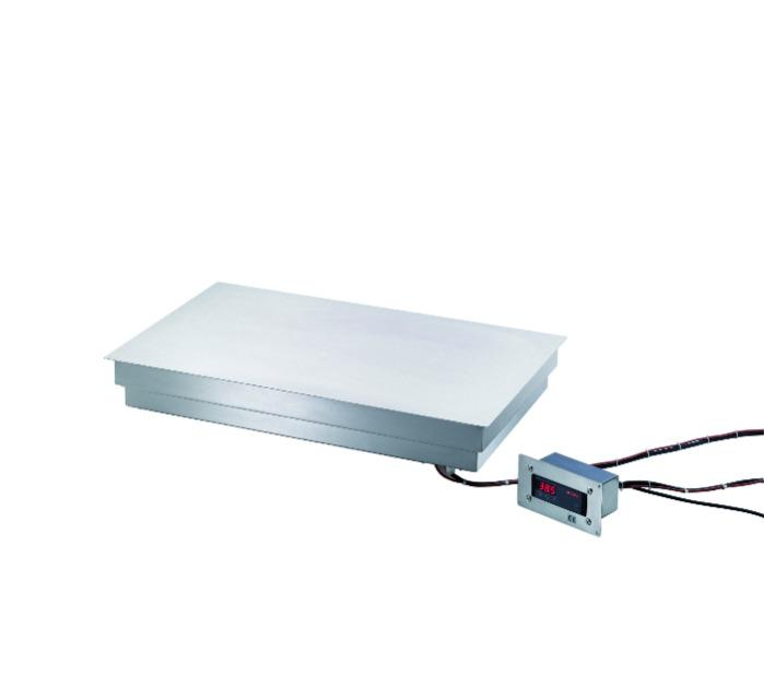 Hot plate built-in - with digital control