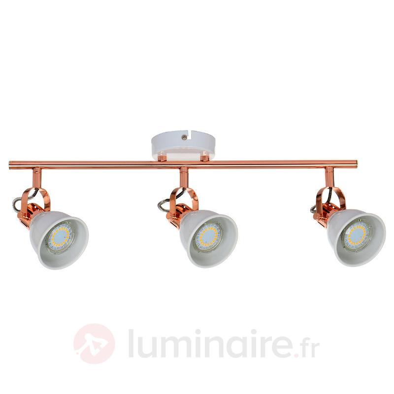 Plafonnier LED Anita à trois lampes, cuivre - Spots et projecteurs LED