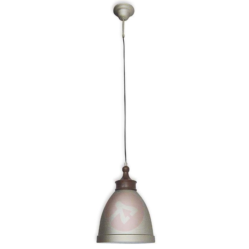 Hevin - metal pendant light, grey - Pendant Lighting