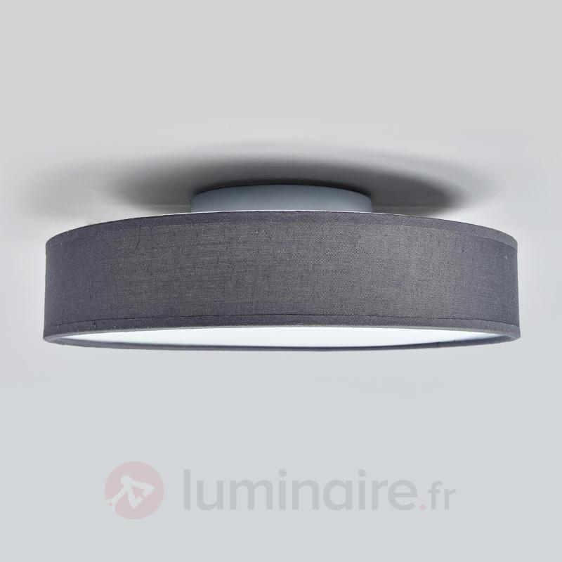 Plafonnier gris LED Saira en tissu, 30 cm - Plafonniers en tissu