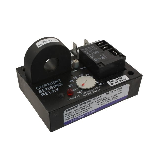 RELAY AC CUR SENS 120VAC CHAS MT - CR Magnetics Inc. CR4395-EH-120-660-A-CD-ELR-I