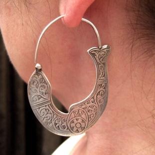 Boucles d'oreilles - Argent, Chine