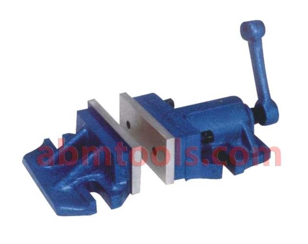 2 Piece Milling Machine Vice - Quarter turn of detachable handle clamps work firm enough for  heaviest cuts.