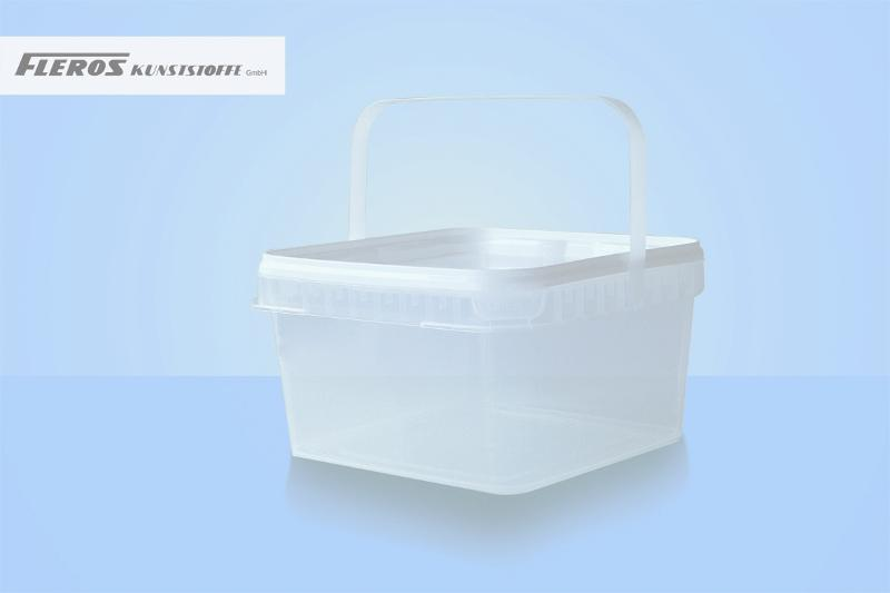Square shaped buckets - FK-Q 3.200 bucket, square-shaped, PP