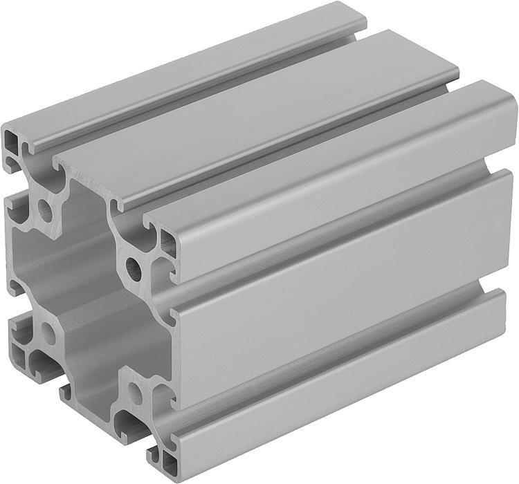 Profilés aluminium 80x80 légers Type I - Profilés aluminium