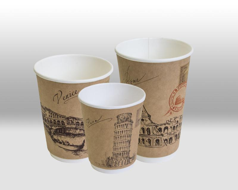 Kraft Double Wall paper cup Cities of the world - THERMOCUP