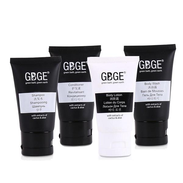 GBGE Business Black Collection Hotel Amenities - specially designed for business hotels, fresh scent and natural formula