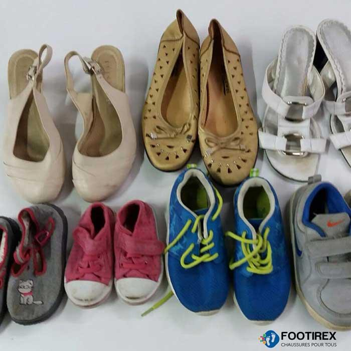 Chaussures d'occasion export Afrique - Mix été grade AB - Fripes-friperie