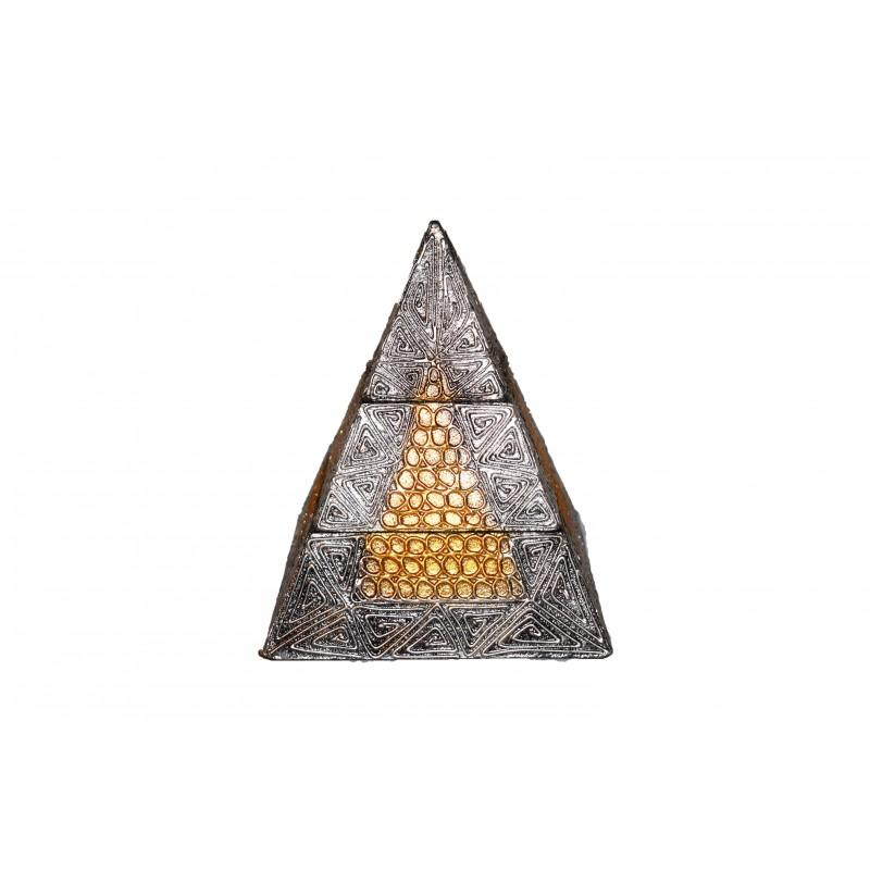 Joyero Pirámide Madera 20cm - Cajas Joyero