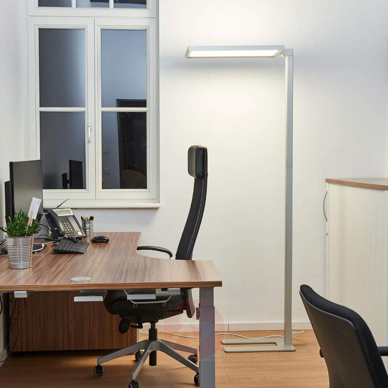 Silver LED Office Floor Lamp Dorean   Floor Lamps And Uplighters ...