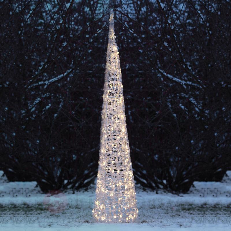 Pyramide LED en acrylique à 120 lampes - Lampes décoratives d'extérieur