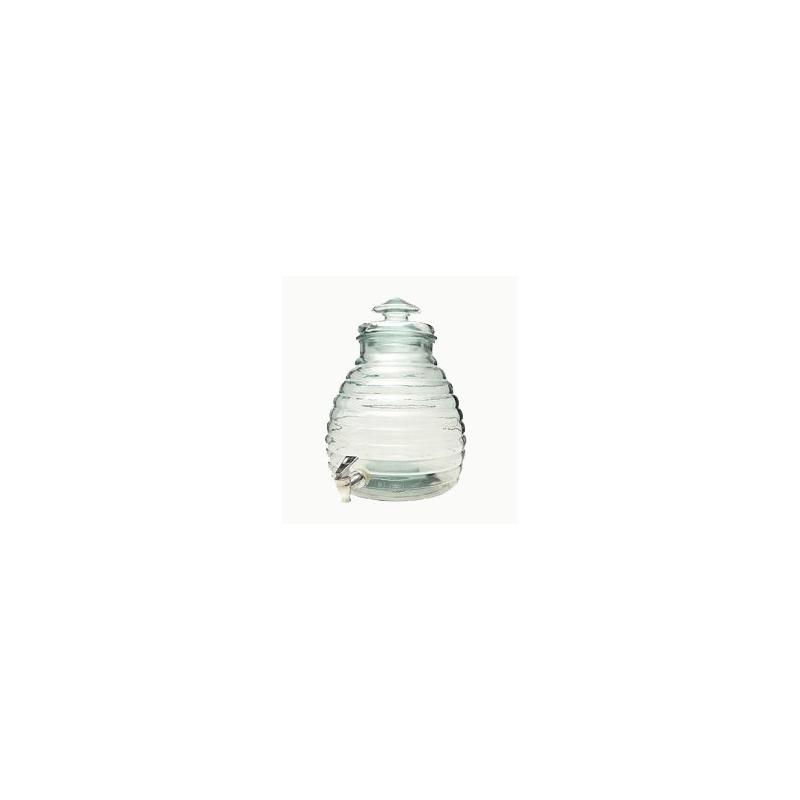 Bottle Hive out of glass 11 liters - 100% recycled, with lid out of glass with tap