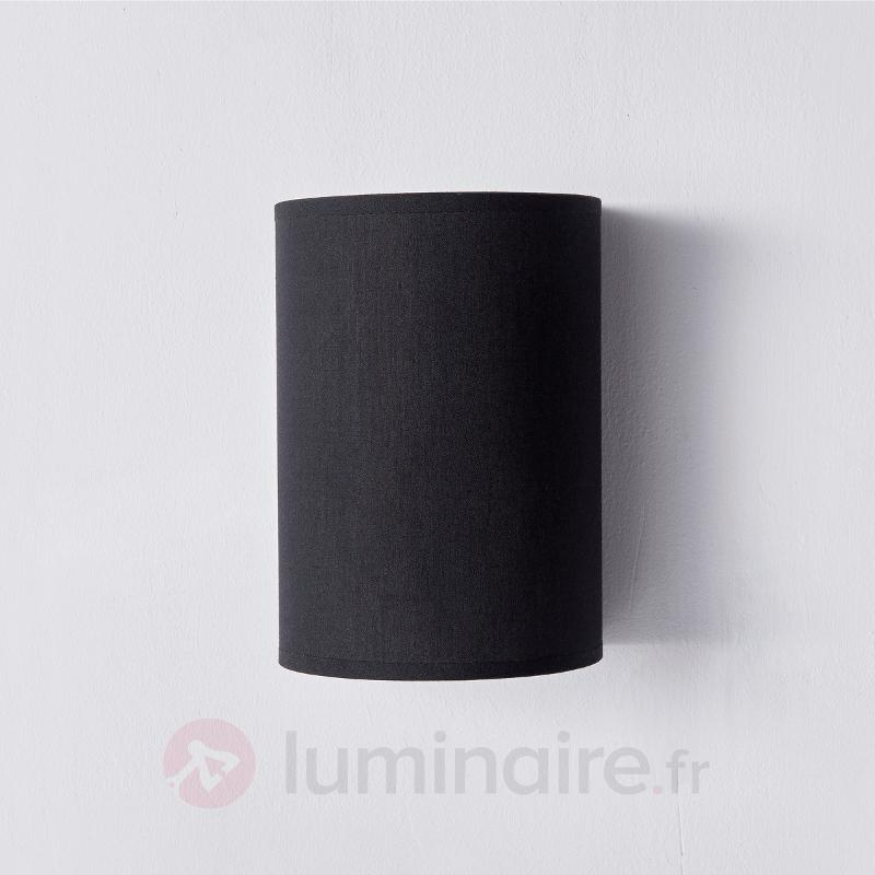 Annalisa - applique textile noir semi-circulaire - Appliques en tissu