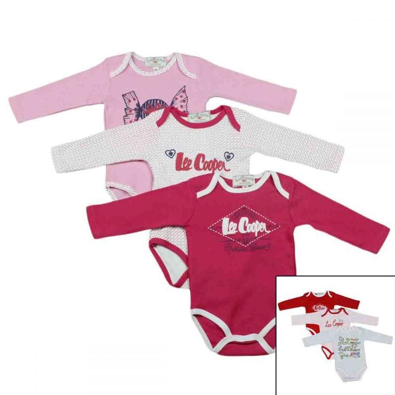 12x Packs de 3 Bodys Lee Cooper du 1 au 24 mois - Vêtement hiver