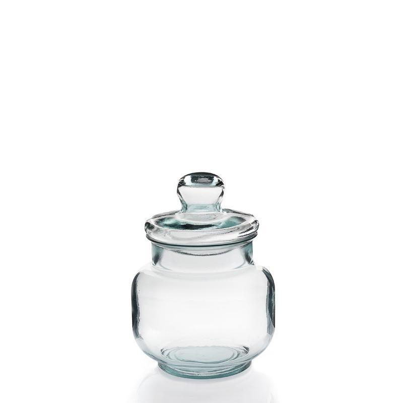 Bonbonnière Tarro Liso 3 litres, 27 cm, en verre 100% recyclé - Bonbonnes et bonbonnières