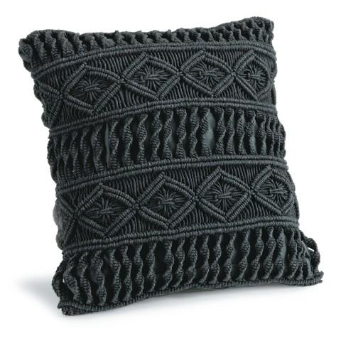 Hand made black cushion cover