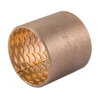 Wrapped bronze sliding bearing - BRO-MET®  - with lubrication pockets