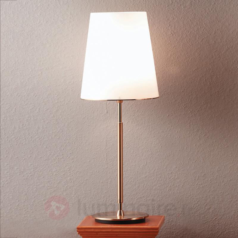 Lampe à poser Konus, abat-jour en verre - Lampes à poser classiques, antiques