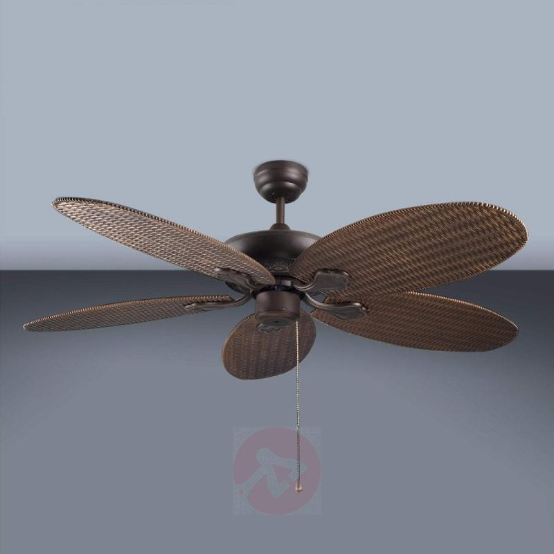 PHUKET ceiling fan with a woven look - fans