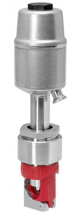 Pneumatisch betätigtes Schlauchquetschventil GEMÜ Q40 - Das Schlauchquetschventil wird pneumatisch betätigt.