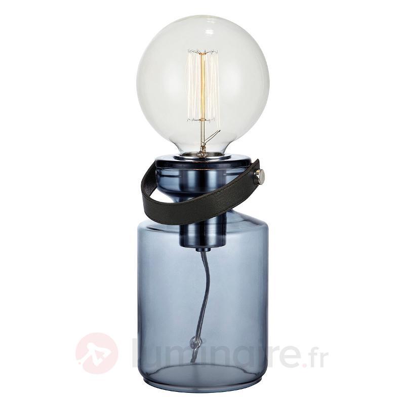 Lampe à poser Adrian avec pied en verre - Lampes de chevet