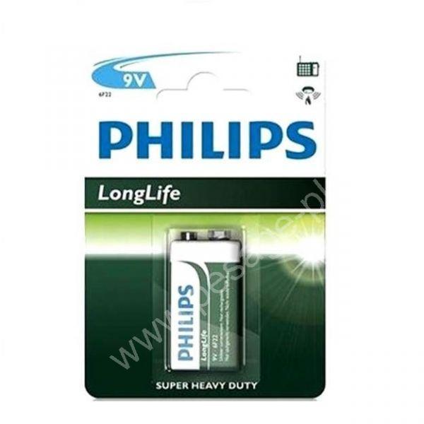 Piles 9V PHILIPS 6F22 / 6LR61 - Confort, entretien, outillage