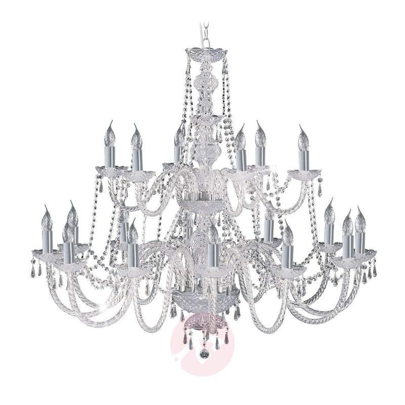 18-bulb Hale crystal chandelier - Chandeliers