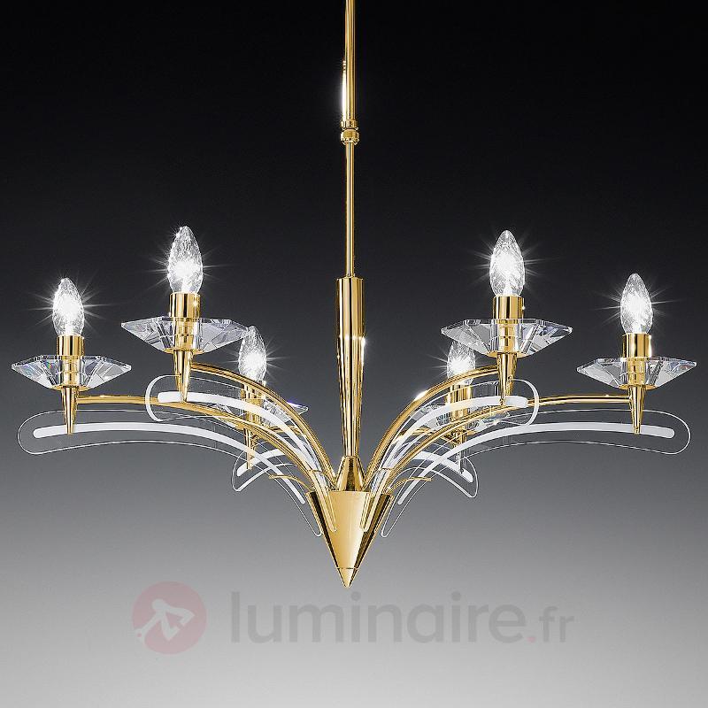Lustre ICARO à 6 lampes, avec verre cristal - Lustres designs, de style