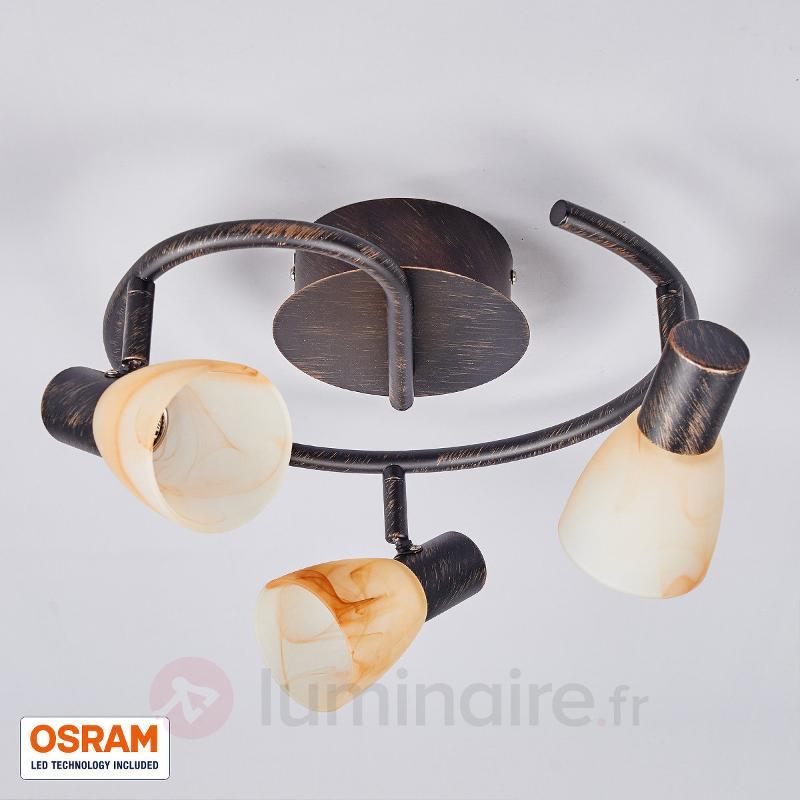 Plafonnier LED Duena à 3 lampes, LED OSRAM - Plafonniers LED