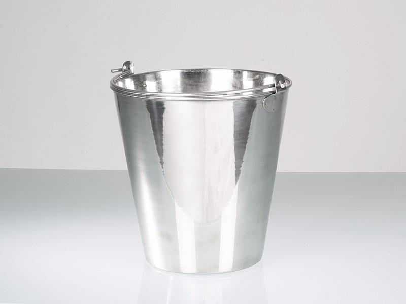 Bucket, stainless steel - Laboratory & industrial equipment, high-gloss polished, 10 l, 15 l