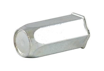 Écrous á sertir en aveugle HEXAFORM - hexagonal- - Écrous á sertir en aveugle, fût hexagonal, avec tête plate et affleurante