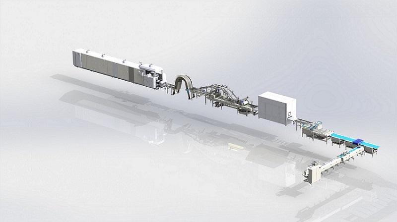 Автоматическая Линия по производству Вафель - вафли, креманамазательные машины, печи.