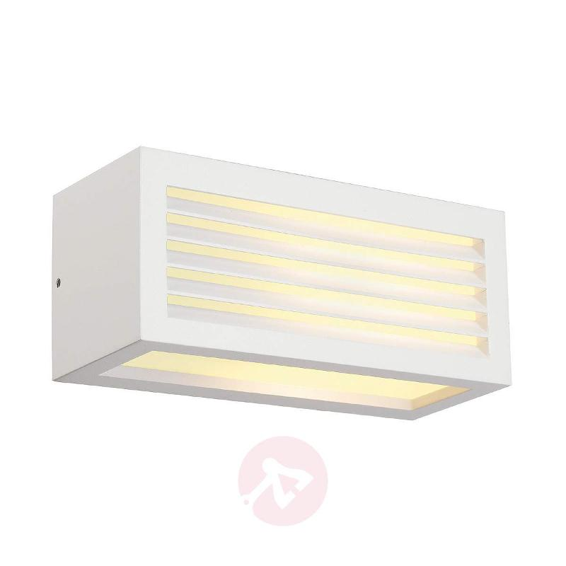 Box L E27 Exterior Wall Lamp, White - Outdoor Wall Lights