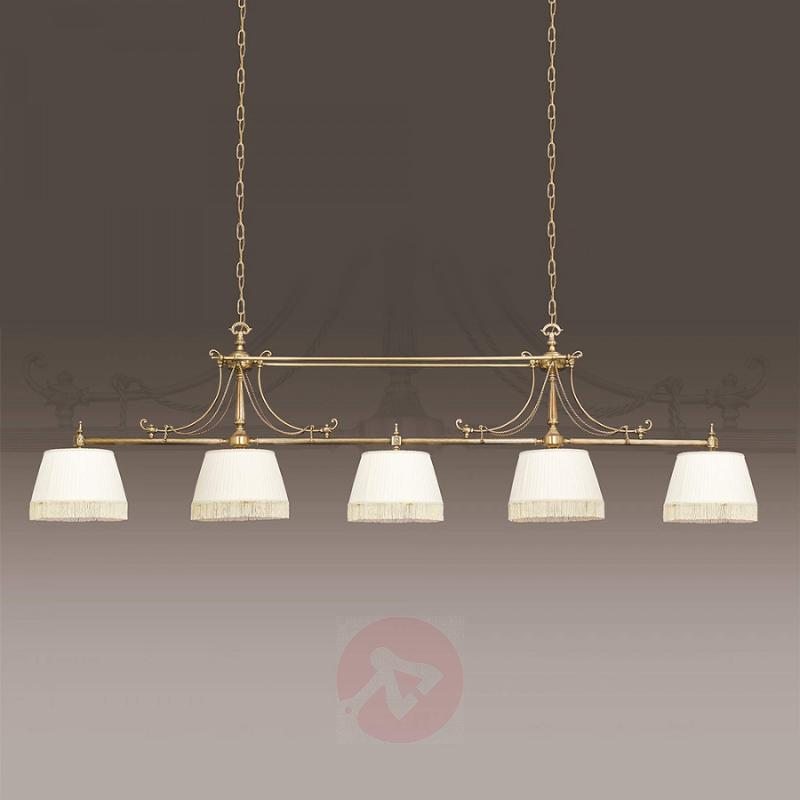 Impressive, 5-bulb fabric pendant light Sopia