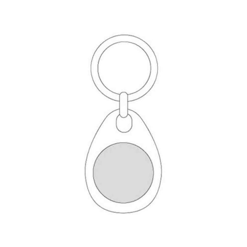 Porte-clés jeton magnétique - Porte-clés métal