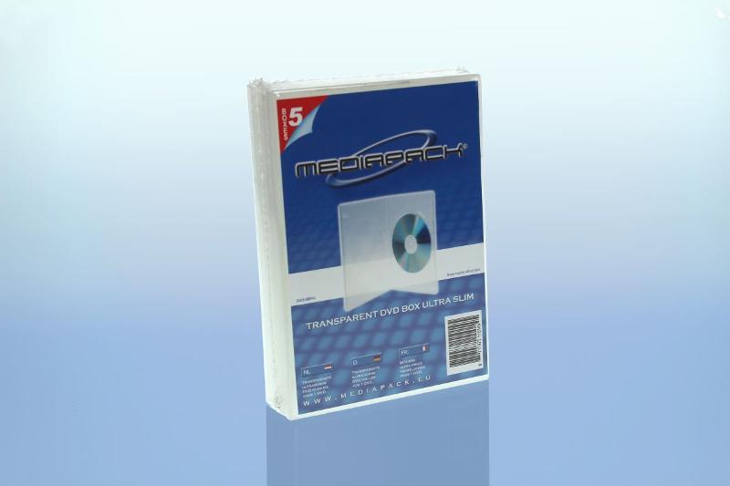 DVD Boxen Slimline - 5er Pack - MPI - 7mm - transparent - Retailverpackungen & Zubehör