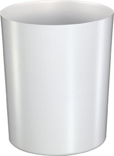Papierkorb aus Stahl, weiß, 6L - Z16014