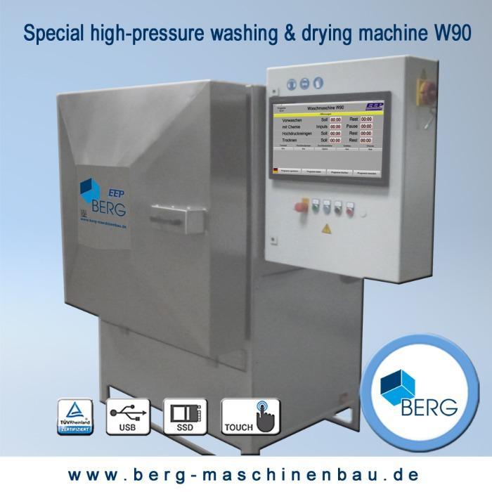 Installation de lavage & de séchage à haute pression W90 - pour un nettoyage efficace des élastomères médicaux et techniques - sans filet