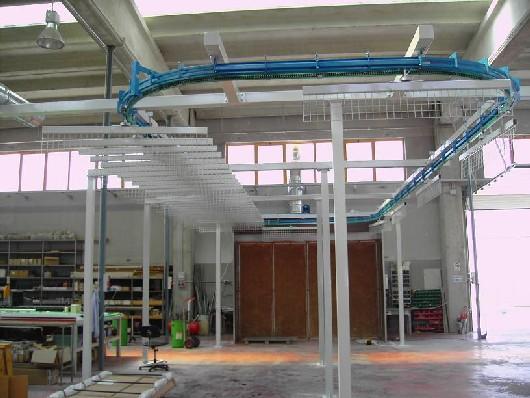 Automatic aerial conveyor