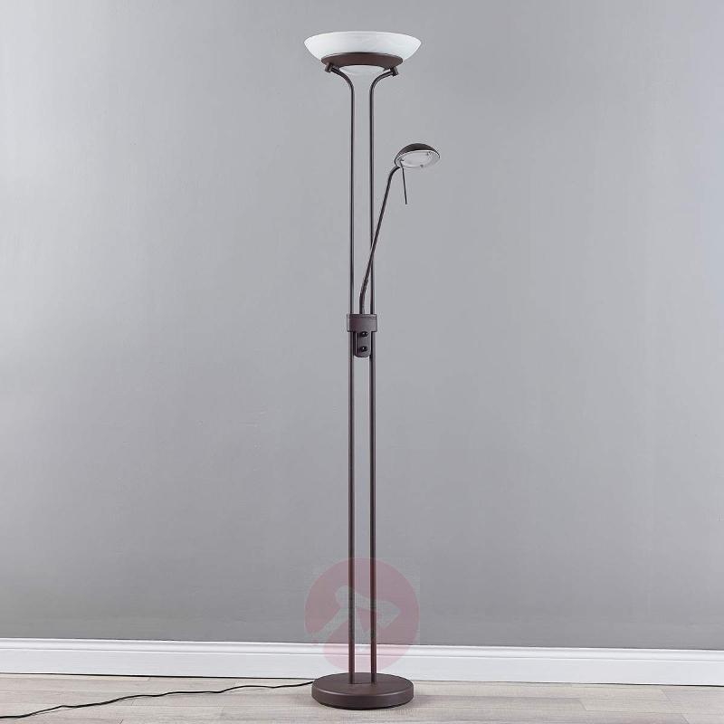 Yveta - rust-coloured LED uplighter with dimmer - Floor Lamps