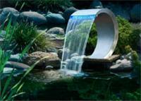 Fontaines modernes - FONTAINE COBRA LED SANS POMPE / : DIM : 54 X 30 X 32