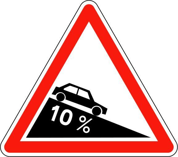 Panneau A16 Descente Dangereuse - Balisage De Chantier Et Panneaux Routiers