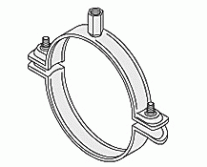 Pipe Clamps - WUS Practica II Reinforced Single Bossed Clamp M8/M10 unlined