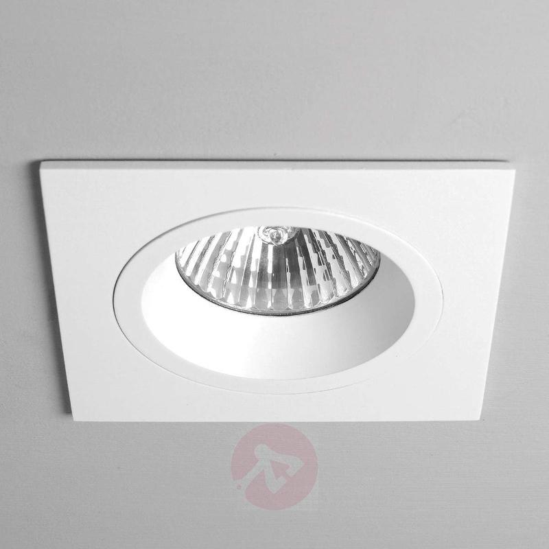 Taro Built-In Ceiling Spotlight Square Rigid White - High-Voltage Spotlights