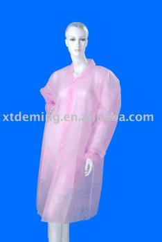 Disposable Lab Garment with Pockets and Snaps