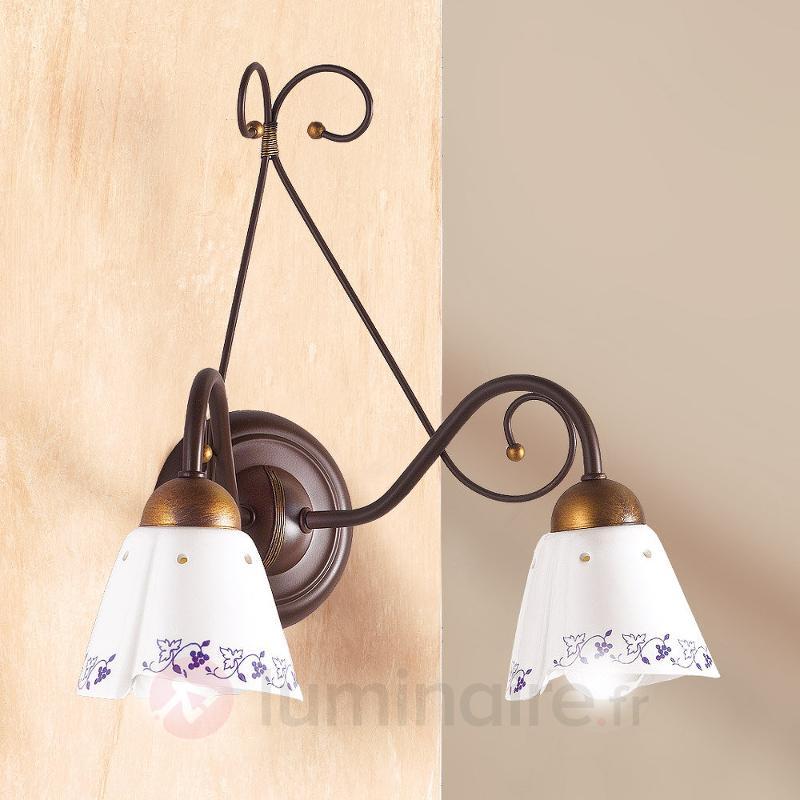 Applique à 2 lampes CARTOCCIO - Appliques rustiques